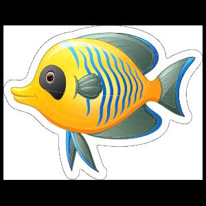 Cool Yellow Fish Sticker