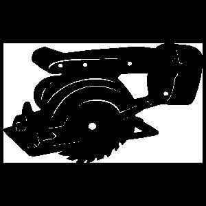 Cordless Circular Saw Carpenter Sticker