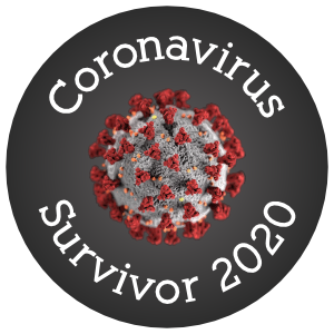 Coronavirus Survivor Sticker