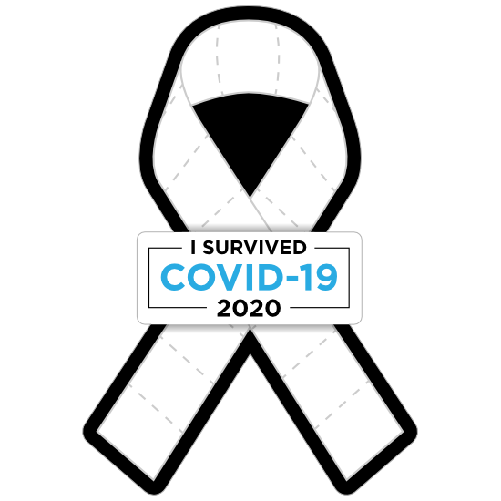 Coronavirus Toilet Paper Ribbon Sticker