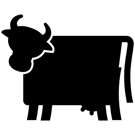 Cow Silhouette Sticker