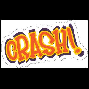 Crash Comic Sticker