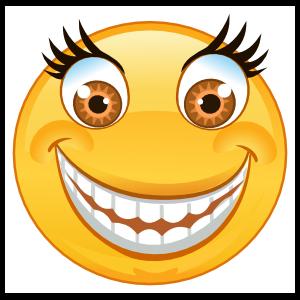 Crazy Wide Eyes Big Smile Emoji Sticker