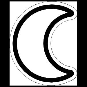 Crescent Moon Sticker