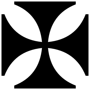 Elegant Square Cross Sticker
