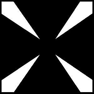Square Cross Sticker