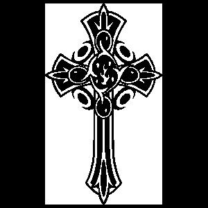 Detailed Cross Sticker