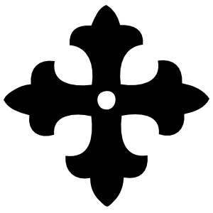 Cross With Fleur De Lys Edges Sticker