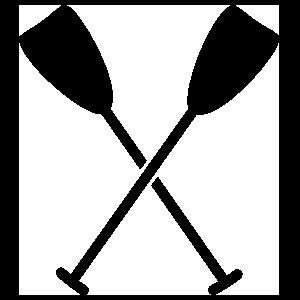 Crossed Oars Sticker