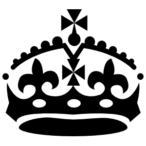 Crwon With Fluer De Lys Sticker