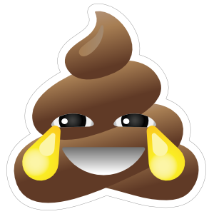 Crying With Laughter Poop Emoji Sticker