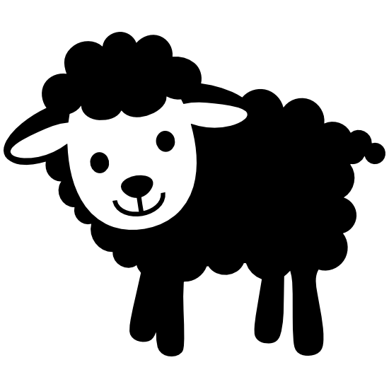 Cute Baby Lamb Sheep Sticker