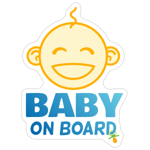 Cute Baby On Board Face Sticker