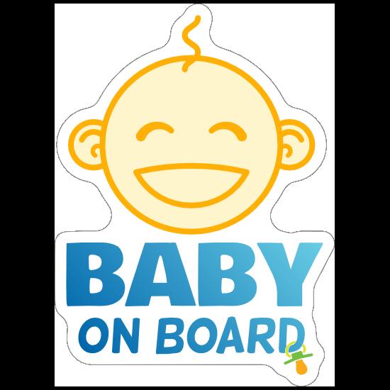 Cute Baby On Board Face Sticker