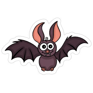 Cute Bat Sticker