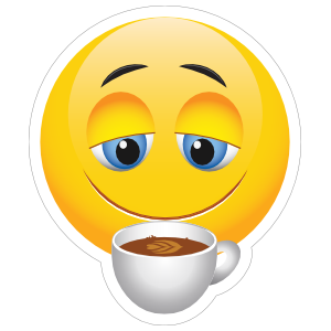 Cute Coffee Lover Emoji Sticker