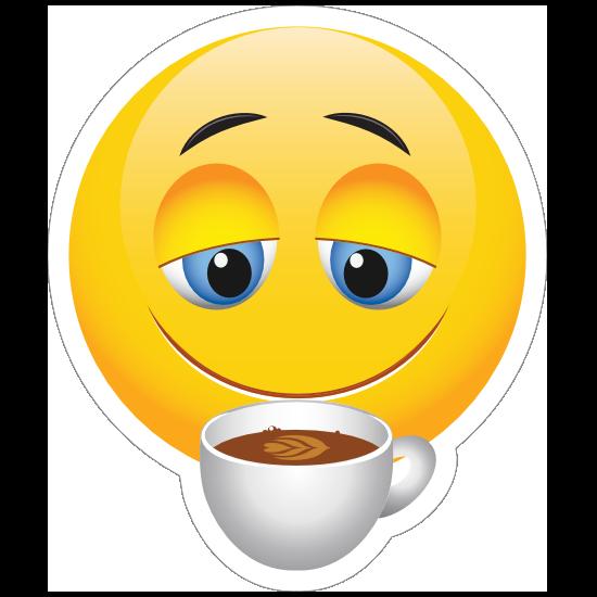 Cute Coffee Lover Emoji Sticker