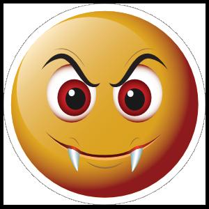 Cute Fangs Emoji Sticker
