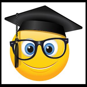 Cute Graduate with Glasses Emoji Sticker