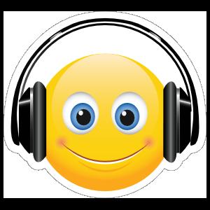 Cute Headphones Emoji Sticker