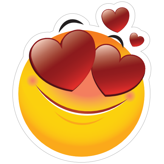 Cute In Love Emoji Sticker
