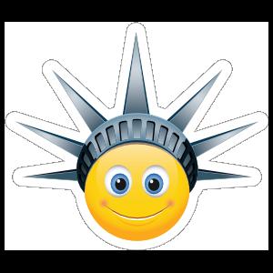 Cute Lady Liberty Emoji Sticker