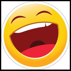 Cute Laughing Emoji Sticker