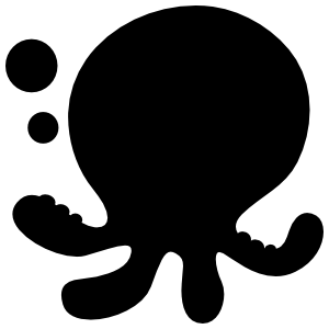 Cute Octopus With Bubbles Sticker