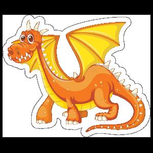 Cute Orange and Yellow Dragon