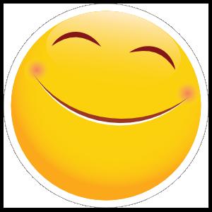 Cute Overjoyed Emoji Sticker