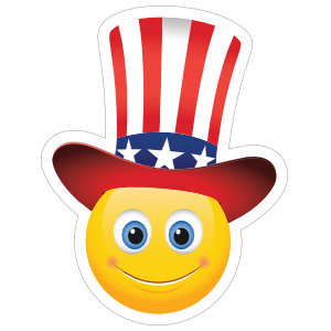 Cute Patriot Emoji Sticker