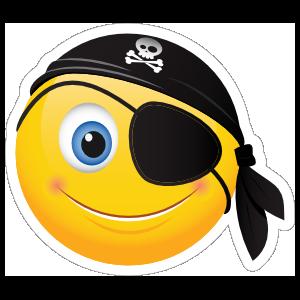 Cute Pirate Emoji Sticker
