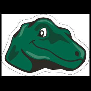 Cute Raptor Mascot Sticker