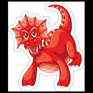 Cute Red Dragon Sticker