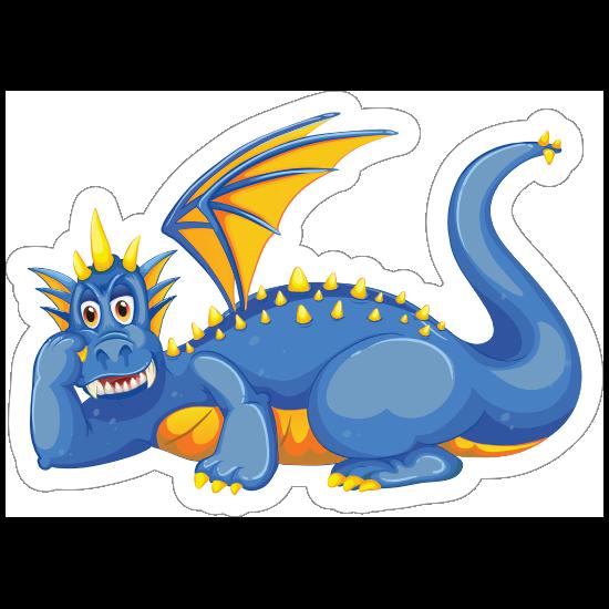 Cute Relaxing Blue Dragon