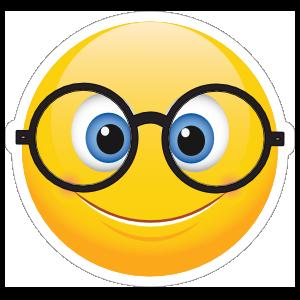 Cute Round Glasses Emoji Sticker