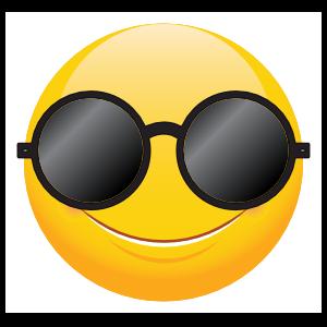 Cute Round Sunglasses Emoji Sticker