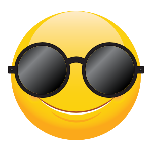 Cute Round Sunglasses Emoji Sticker