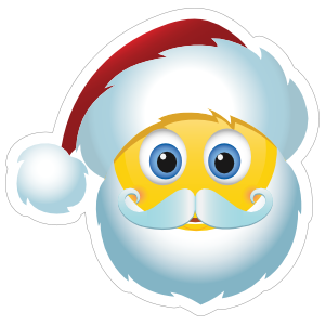 Cute Santa Claus Christmas Emoji Sticker