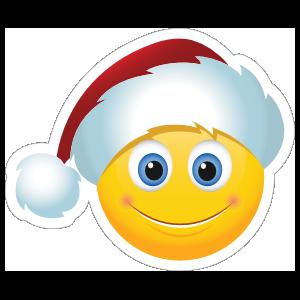 Cute Santa Claus Hat Christmas Emoji Sticker
