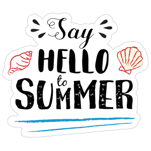 Cute Say Hello to Summer Sticker