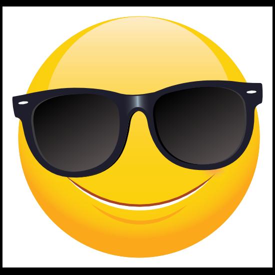Cute Sunglasses Emoji Sticker