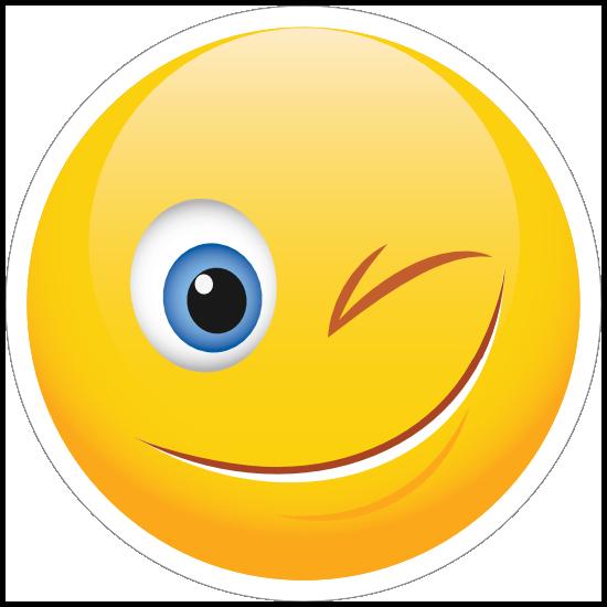 Cute Wink Emoji Sticker