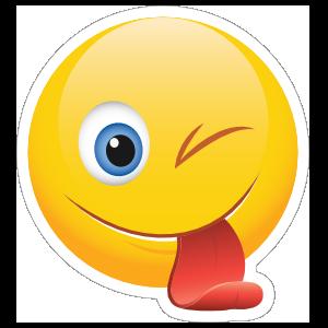 Cute Winking Tongue Out Emoji Sticker