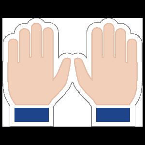 Hands Praise Emoji Sticker
