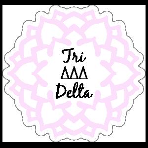 Pink Delta Delta Delta Mandala Sticker
