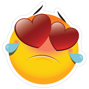 Cute Heartbroken Emoji Sticker