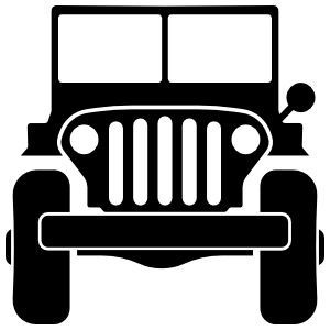 Military Jeep Sticker
