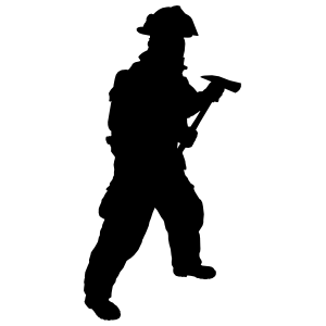 Prepared Firefighter Fireman Sticker