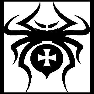 Spider With Cross Design Sticker